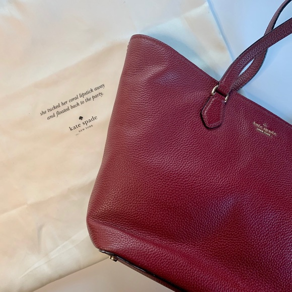 kate spade Handbags - Kate Spade red leather tote